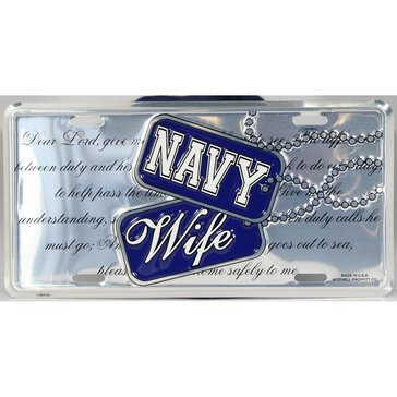 Mitchell Proffitt USN Navy Wife Dog And Creed Metal License Plate