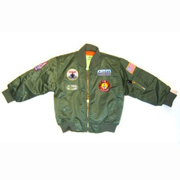 Business Innovations USN Aviator Green Jacket