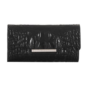 Brahmin Soft Checkbook Wallet Black Melbourne