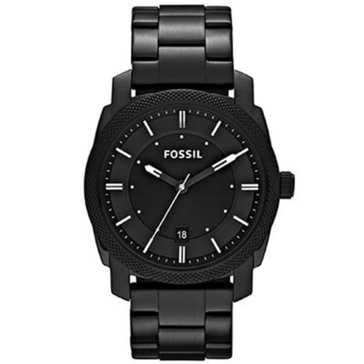 Fossil Men's Machine Black Tone Stainless Steel Bracelet Watch, 42mm