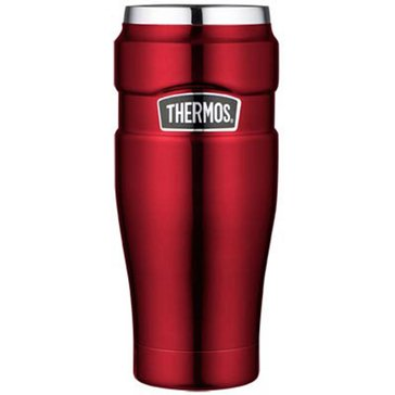 Thermos King 16oz Stainless Steel Travel Tumbler, Cranberry