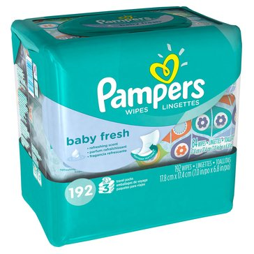 Pampers Baby Fresh Scented Baby Wipes, 192-Count (3-Pack)