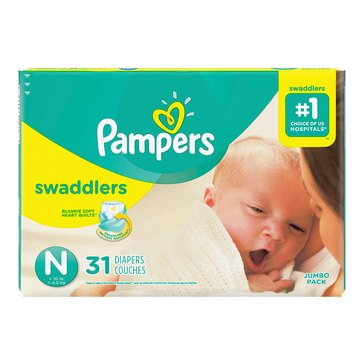 Pampers Natural Clean Unscented Baby Wipes, 192-Count (3-Pack)
