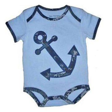 Trooper USN Digital Camo Onesie With Anchor