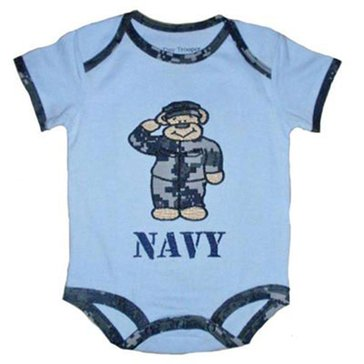 Trooper USN Digital Onesie With Teddy Bear