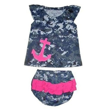 Trooper USN Infant Digital Top With Anchor/Panty