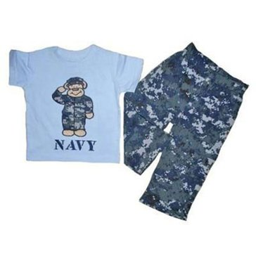 Trooper Toddler USN 2Pc Digital Teddy Bear Outfit
