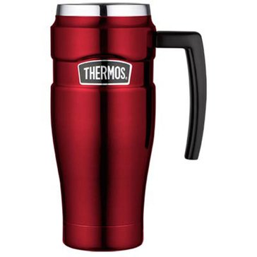 Thermos King 16oz Stainless Steel Travel Mug, Cranberry