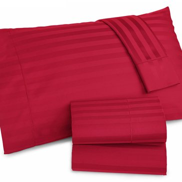 Charter Club Damask Stripe 500 Thread-Count Sheet Set, Crimson - King