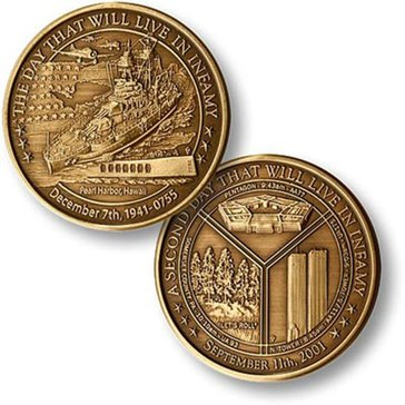 USN The Day That Will Live In Infamy Coin