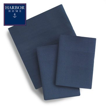 Harbor Home Microfiber Sheet Set, Navy - Queen