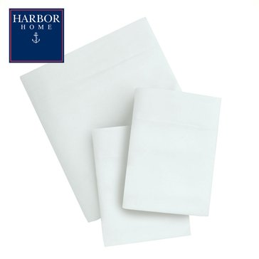 Harbor Home Microfiber Sheet Set, White - Queen