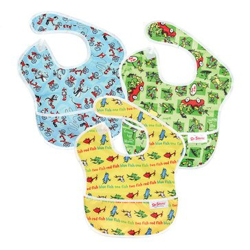 Bumkins Superbib, Dr. Seuss, 3-Pack