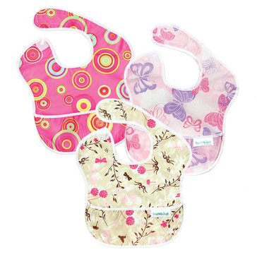 Bumkins Superbib, Girl, 3-Pack