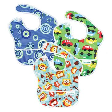 Bumkins Superbib, Boy, 3-Pack