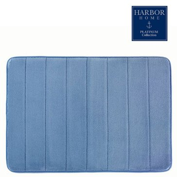 Platinum Collection 21x34 Bath Rug, French Blue