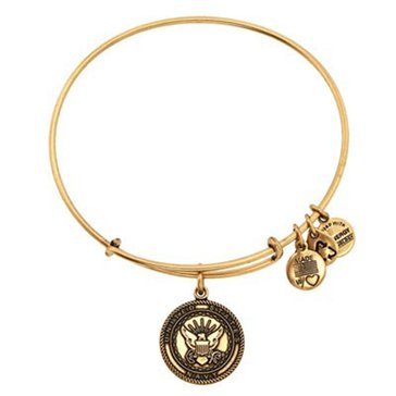 Alex and Ani 'US Navy' Expandable Wire Bangle Gold Tone