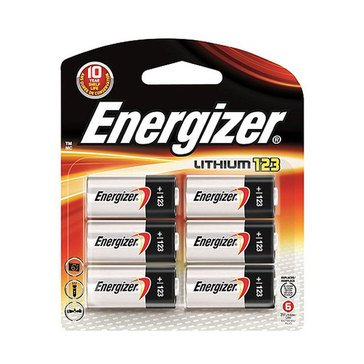Energizer 123 3-Volt Lithium Photo Battery, 6-Pack
