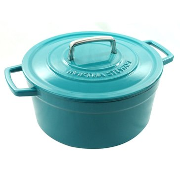 Martha Stewart Collection Enameled Cast Iron 6-Quart Casserole, Teal