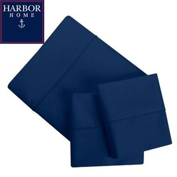 Gold Collection 300 Thread-Count Sheet Set, Navy - Cal. King