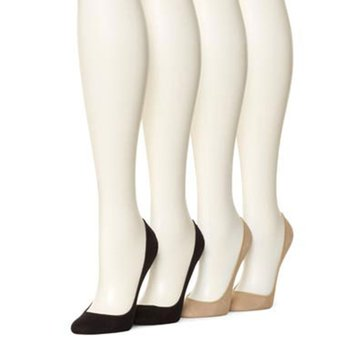 Hue Women's Hidden Cotton Liner - 4 Pair Value Pack