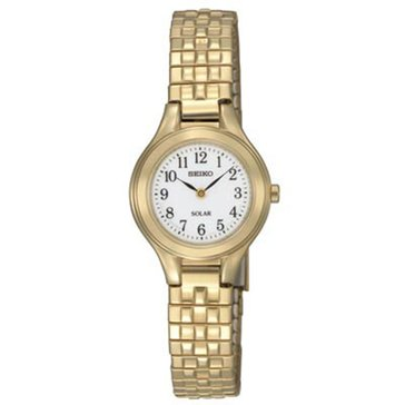 Seiko Women's Gold Tone Stainless Steel Solar Expansion Classic Watch 21mm