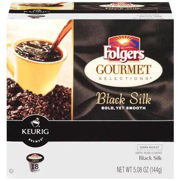 Folgers Black Silk K-Cup Pods, 18-Count