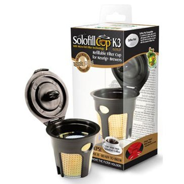 Solofill K3 Gold Refillable Filter Cup for Keurig K-Cup Brewing Systems