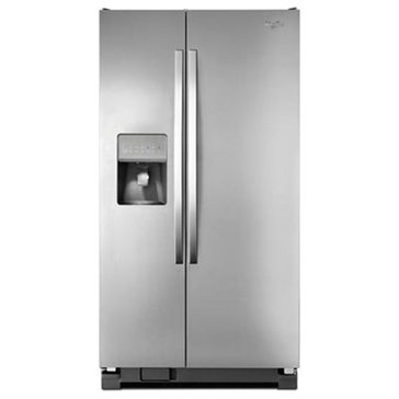 Whirlpool 25-Cu.Ft. Side-by-Side Refrigerator, Stainless Steel (WRS325FDAM)