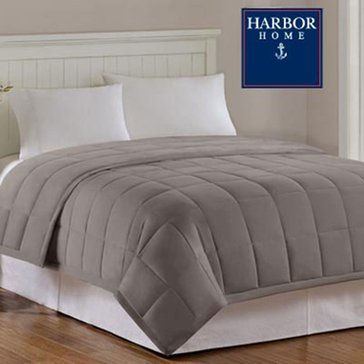 Harbor Home Down Alternative Blanket, Taupe - Full/Queen