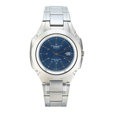Casio Men's Classic Analog Dress Watch MTP3050D-2AV, Blue/ Silver 47mm