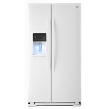Kenmore 26-Cu.Ft. Side-by-Side Refrigerator, White (46-51132)