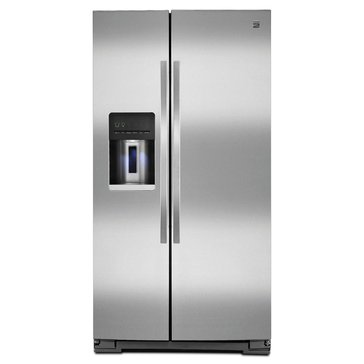 Kenmore 26-Cu.Ft. Side-by-Side Refrigerator, Stainless Steel (46-51133)