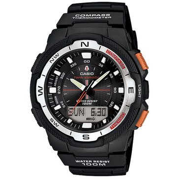 Casio Men's Twin Sensor Compass/Thermometer Watch SGW500H-1BV, Black 50mm