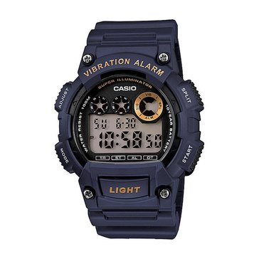 Casio Men's Vibration Alarm Digital Watch W735H-1AV, Black 51mm