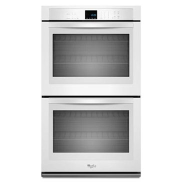 Whirlpool 10-Cu.Ft. Double Wall Oven w/ X-Large Oven Window, White (WOD51EC0AW)
