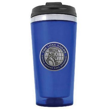 Sparta Pewter US Navy Lone Sailor Blue Travel Tumbler