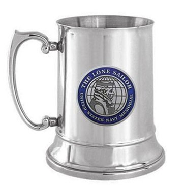 Sparta Pewter USN Lone Sailor Stainless Steel Tankard