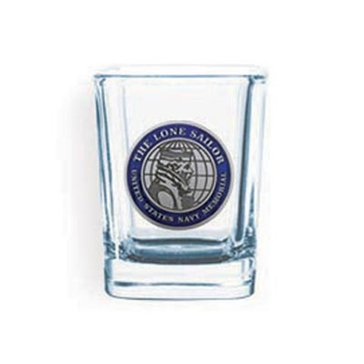 Sparta Pewter USN Lone Sailor Shot Glass