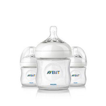 Avent Natural 4oz Bottles, 3-Pack