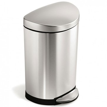 simplehuman 10 Liter Semi Round Waste Can