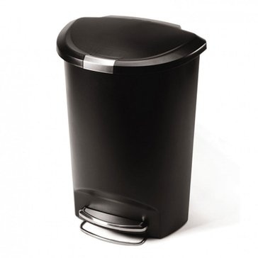 simplehuman 50 Liter Semi-Round Plastic Waste Can