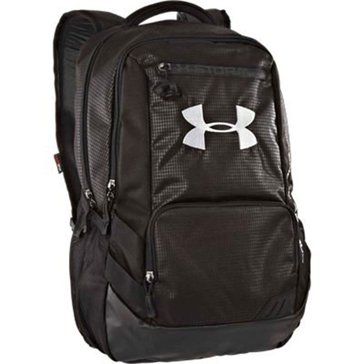 Under Armour Hustle Backpack - Black/Steel/White