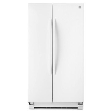 Kenmore 25-Cu.Ft. Side-by-Side Refrigerator, White (46-41152)