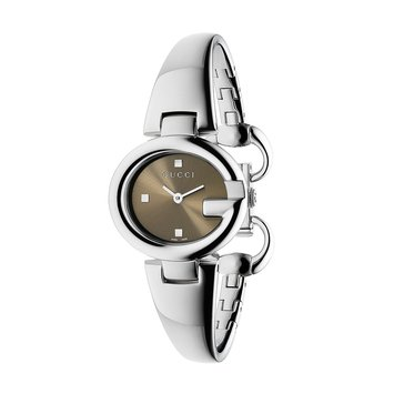 Gucci Women's Swiss Guccissima Stainless Steel Bangle Watch 27mm