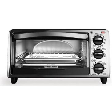 Black+Decker 4-Slice Toaster Oven (TO1313SBD)