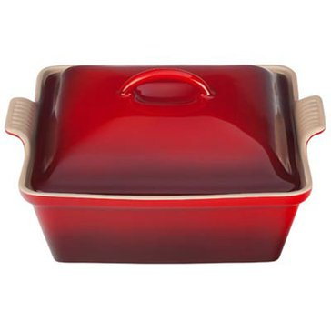 Le Creuset Covered Square Casserole, Cerise
