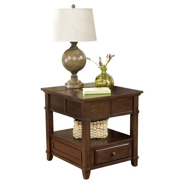 Signature Design by Ashley Gately End Table with Storage & Power Outlets
