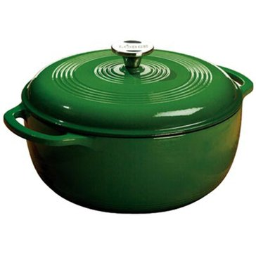 Lodge 6-Quart Enameled Cast Iron Dutch Oven, Green