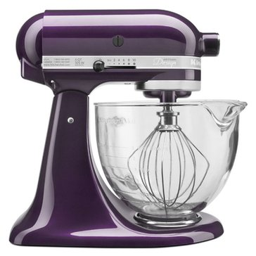 KitchenAid Artisan Design Series 5-Quart Stand Mixer with Glass Bowl - Plumberry (KSM155GBPB)